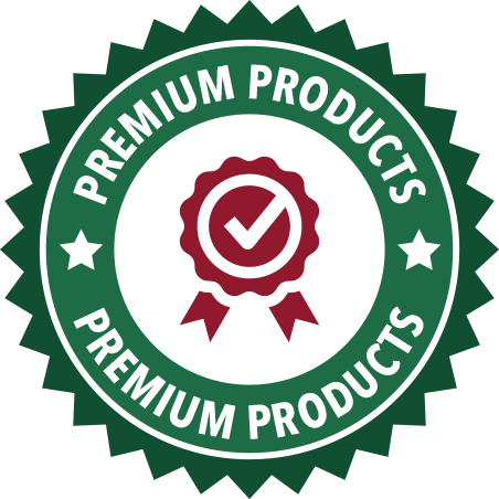 A green Premium Products seal